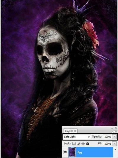 Урок Фотошопа. Портрет в стиле Хэллоуин - №37