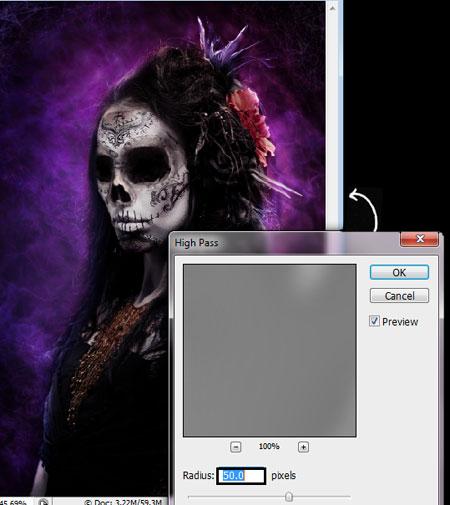 Урок Фотошопа. Портрет в стиле Хэллоуин - №41