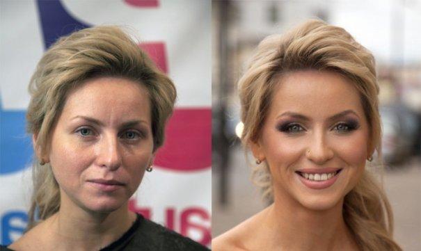 Красивые девушки до макияжа и после - №1