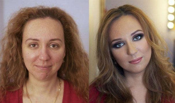 Красивые девушки до макияжа и после - №3