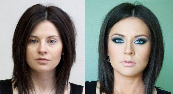 Красивые девушки до макияжа и после - №4