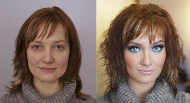 Красивые девушки до макияжа и после - №5