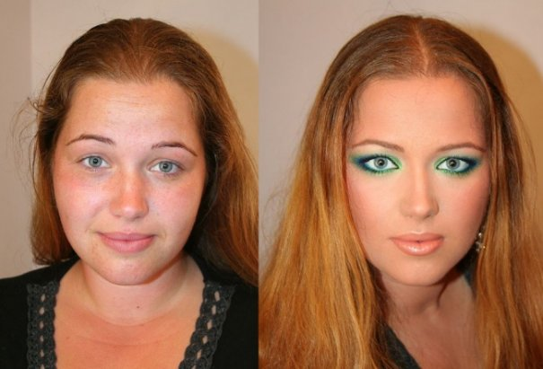 Красивые девушки до макияжа и после - №8