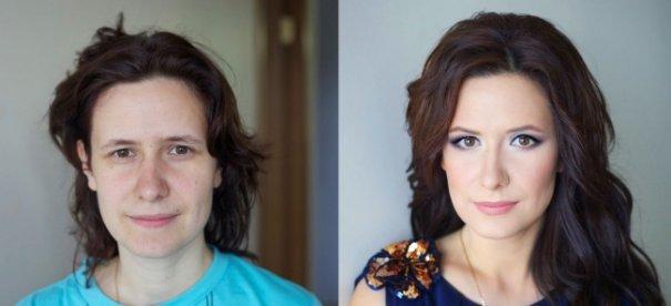 Красивые девушки до макияжа и после - №10