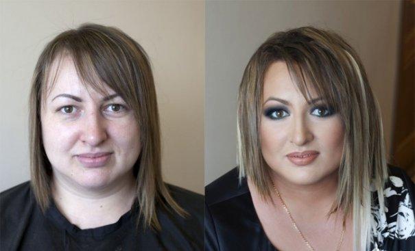 Красивые девушки до макияжа и после - №12