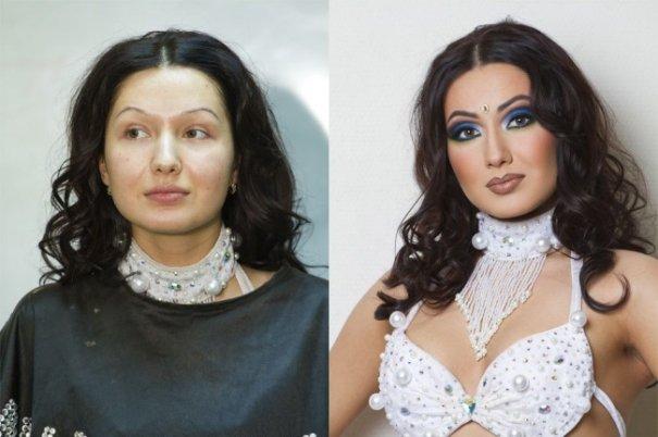 Красивые девушки до макияжа и после - №13