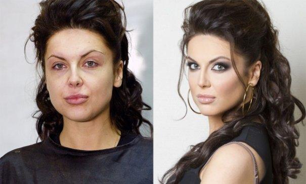 Красивые девушки до макияжа и после - №14