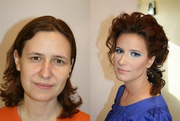 Красивые девушки до макияжа и после - №15