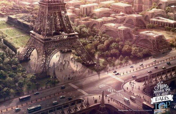 Знаменитая Эйфелева башня (Eiffel tower) - красивые фото - №12