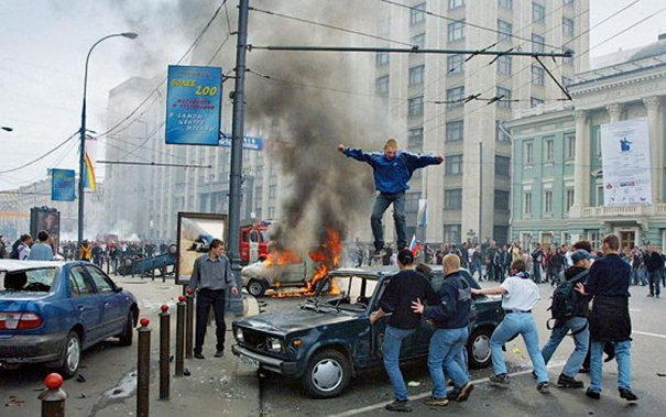 Новости в фотографиях - Самые масштабные беспорядки в Москве - №2