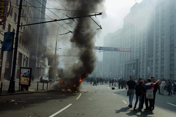Новости в фотографиях - Самые масштабные беспорядки в Москве - №3