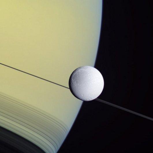 Диона и Сатурн