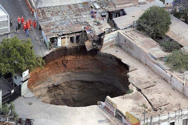Загадка провалов в земле - смотрите интересные фото - №1