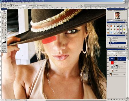 Урок Фотошопа. Эффект гладкой кожи - №15