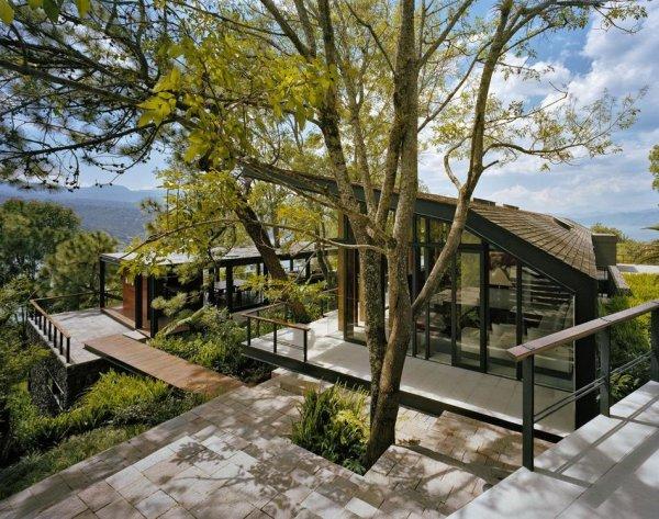 Самые красивые фото домов в лесу - №10