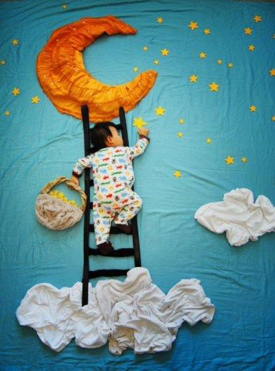 Сказочные истории в красивых фото, пока ребенок спит - №7