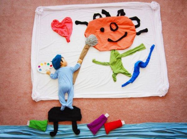 Сказочные истории в красивых фото, пока ребенок спит - №15