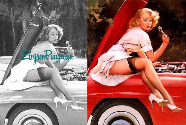 Девушки пин-ап: на красивых фото и картинках - №25