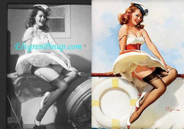 Девушки пин-ап: на красивых фото и картинках - №35