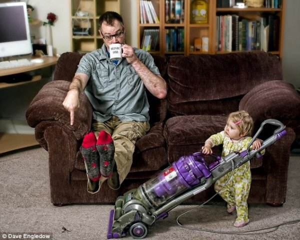"""Dave Engledow """"World's best father"""""""