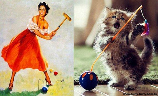 Фото юмор про кошек и девушек пин-ап! - №2