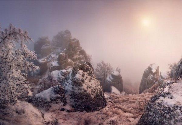 Зимние фото пейзажи из Крыма - №7