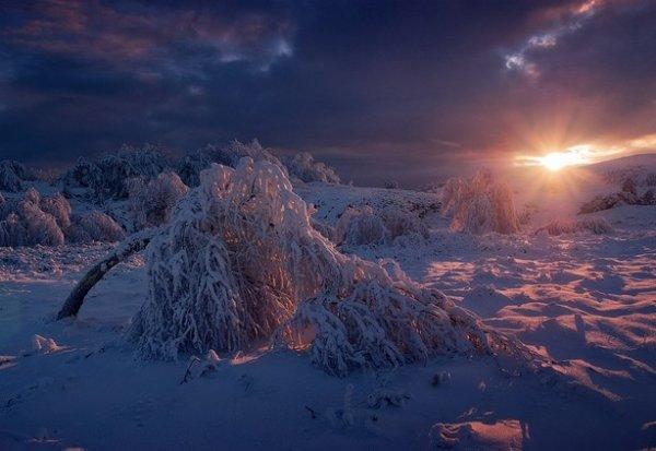 Зимние фото пейзажи из Крыма - №27