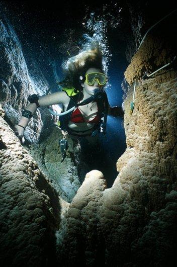 Дайвинг в подводных пещерах - красивые фото природы - №2