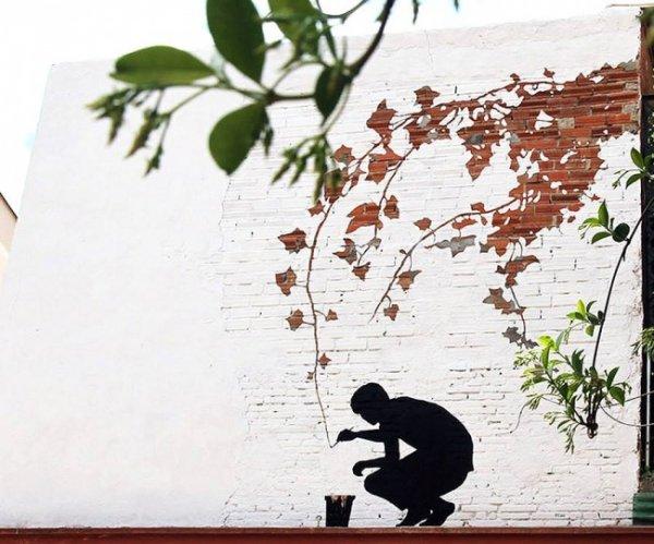Новости в фотографиях - Лучшая подборка стрит-арт 2013 - №19