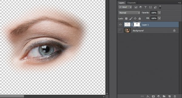 Урок Фотошопа. Ретушь глаз несколькими способами - №5