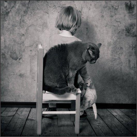 Девочка и Кот в интересном фото проекте - №16