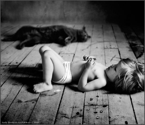 Девочка и Кот в интересном фото проекте - №2