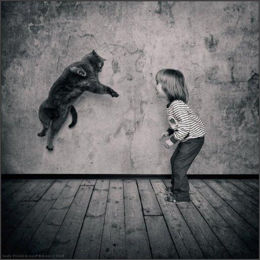 Девочка и Кот в интересном фото проекте - №10