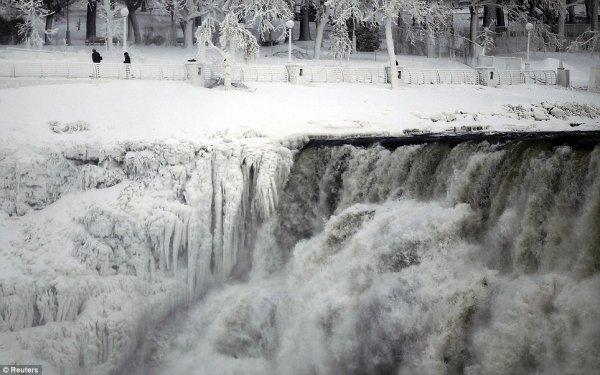 замерз Ниагарский водопад 1