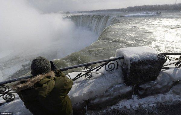 замерз Ниагарский водопад 9
