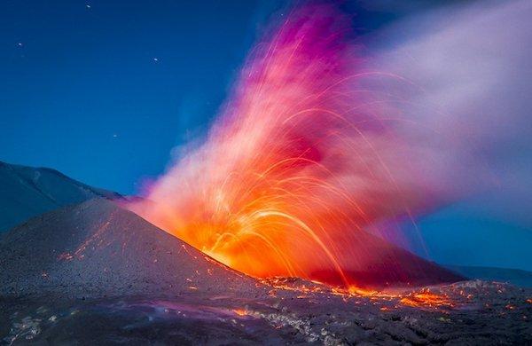 Лучшие фото кадры извержения вулканов мира - №3