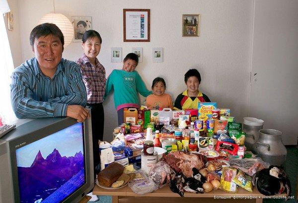Недельный набор продуктов у разных народов в семейных фото - №10