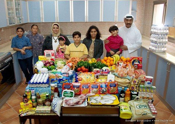 Недельный набор продуктов у разных народов в семейных фото - №14