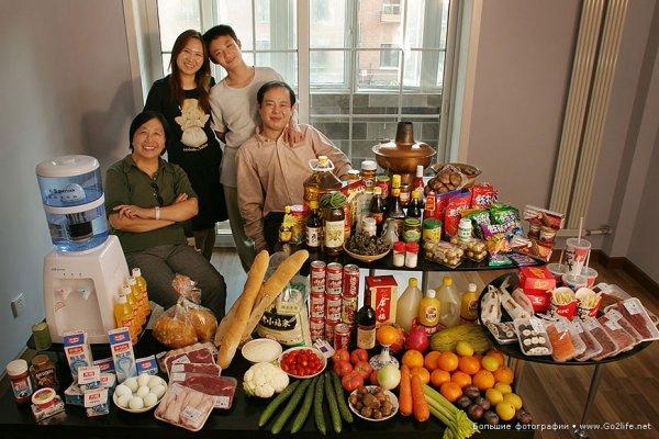 Недельный набор продуктов у разных народов в семейных фото - №18