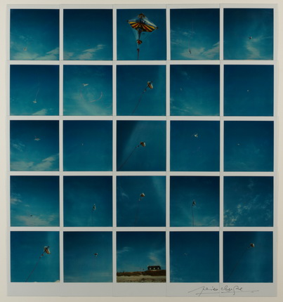 Lucien Clergue. Le Cerf Volant, Bretagne. 1984, Polaroid SX-70 Time Zero. © Lucien Clergue