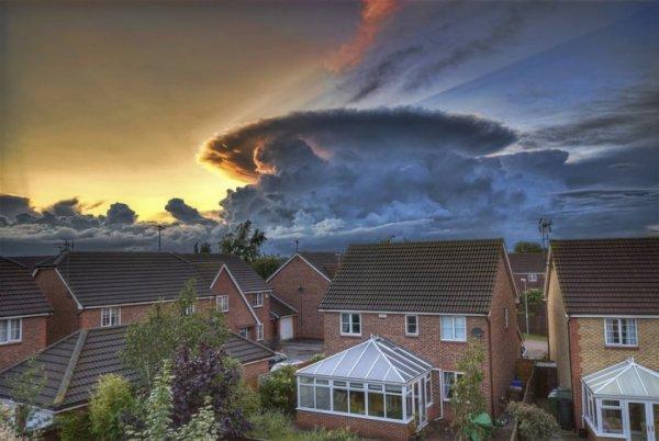 красивое небо с облаками