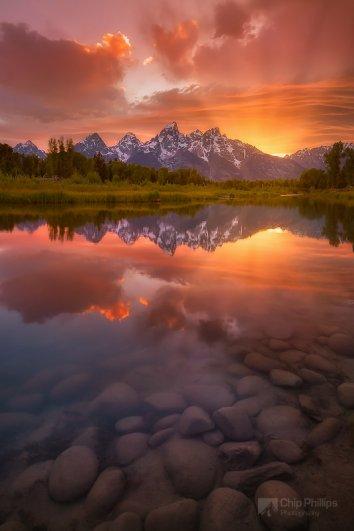 красота природы фото - Вертикальный закат