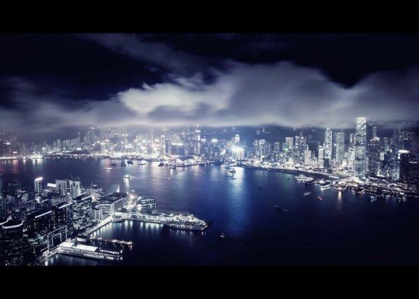 городской пейзаж фото ночью