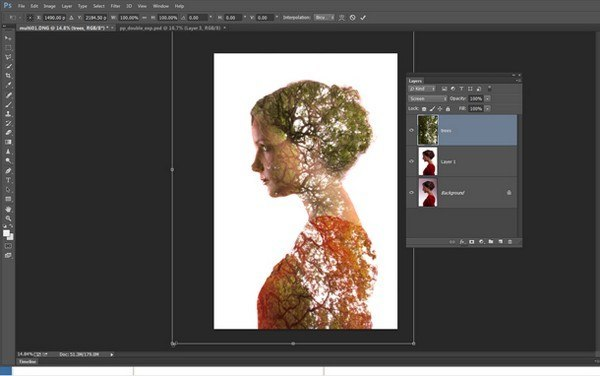 создаем портреты с двойной экспозицией – Шаг 4