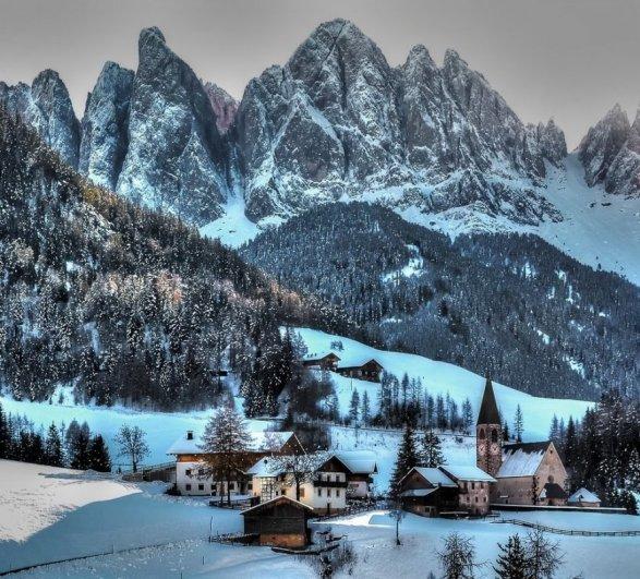 Зимний город