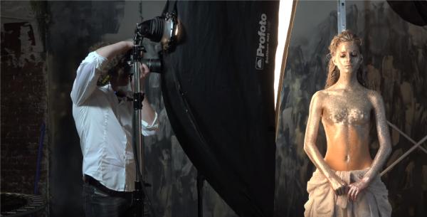 Блестки в студийной портретной фотографии