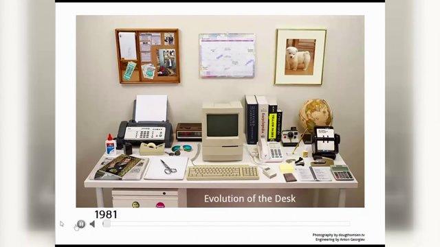 Как изменился рабочий стол за 34 года