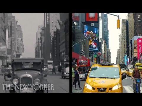улицы Нью-Йорка 1930-х годов и сейчас