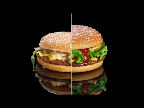 Снимаем бургер из МакДоналдс