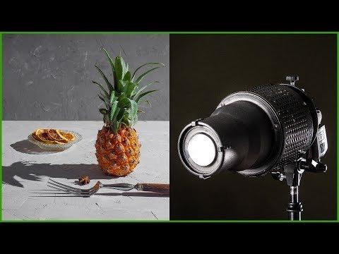 Жесткий свет в фуд фото | Сравнение насадок
